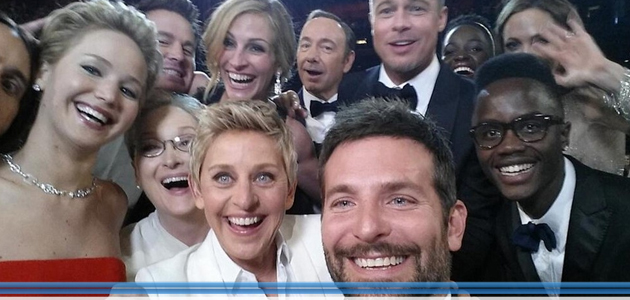 Il #selfie da Oscar batte ogni record