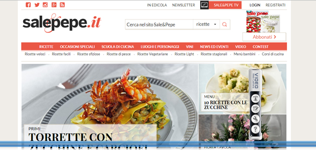 Ricette, vino ed eventi: gli ingredienti di SalePepe.it by Mondadori