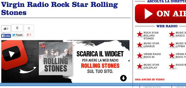 Virgin dedica una nuova nuova web radio ai Rolling Stones