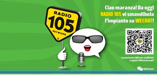 Da oggi WeChat suona con Radio 105