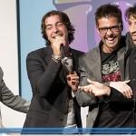 Marco Mazzoli e Lo Zoo di 105 durante la premiazione di Cuffie D'Oro