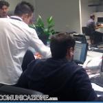 L'openspace della redazione di Radio Cusano Campus