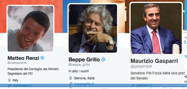 Tweetpolitics il 65 dei parlamentari cinguetta grillo e for Numero parlamentari italiani