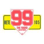 """Il """"99"""" caratteristico delle frequenze locali di Radio 105. Gli ascoltatori sono i cosiddetti """"Novantanoviani"""""""